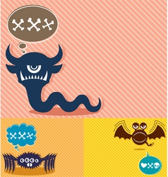 Monster Backgrounds vector image