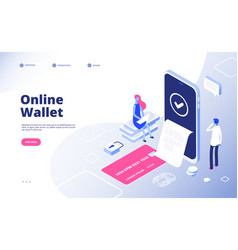 online wallet internet payment money transactions vector image