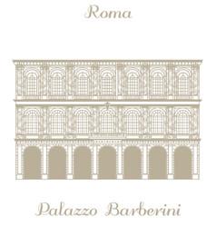 Palazzo Barberini in Rome vector