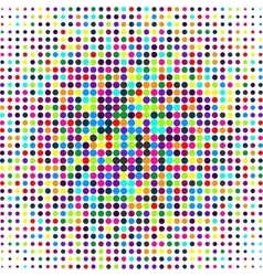 Polka dot pattern on a white Casual texture vector