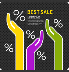 Poster the best sales vector