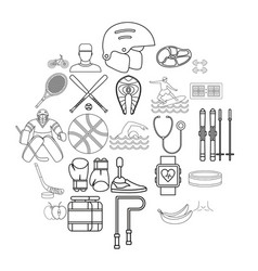 Professional icons set outline style vector