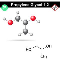 Propylene glycol 12 organic chemical solvent vector