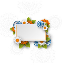 rectangle banner for indian holidays vector image