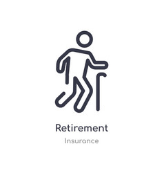 Retirement outline icon isolated line from vector