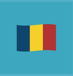Romania flag icon in flat design vector