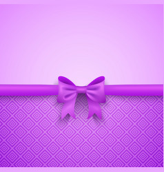 Romantic purple background with cute bow vector