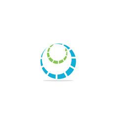 round circle arrow technology logo vector image