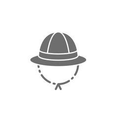 Safari hat cork helmet grey icon vector
