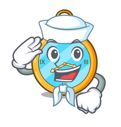 Sailor pocket vintage watch on a cartoon vector