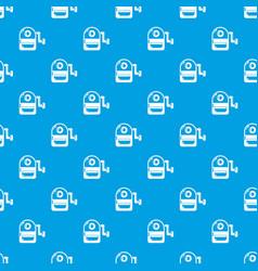 school bag pattern seamless blue vector image