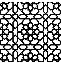 Seamless arabic geometric ornament vector