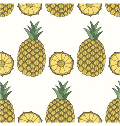 seamless pattern of pineapples fruit background vector image
