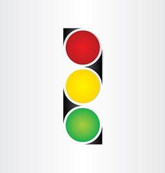 Semaphore abstract traffic sign symbol vector