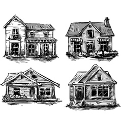 set private houses vector image