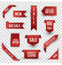 Shopping sales and discounts promotional labels vector