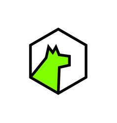 simple minimalist dog logo icon vector image