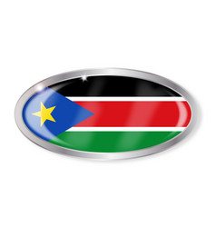 South sudan flag oval button vector