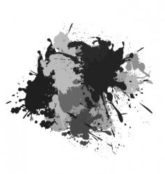 splash black white and grey vector image