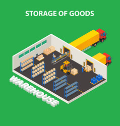 Storage of goods design concept vector