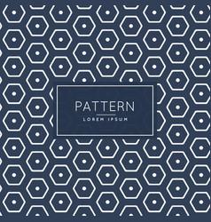 Stylish hexagonal pattern template vector
