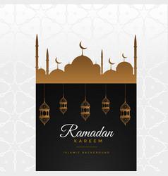 Stylish ramadan kareem beautiful greeting vector