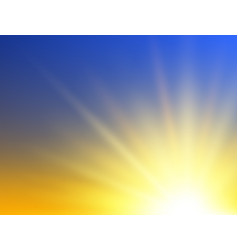 sunshine background abstract sunrise concept vector image