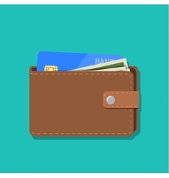 wallet with card and cash vector image