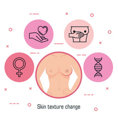 woman figure with breast cancer vector image