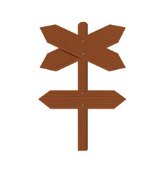 Wooden plates cross arrows and index of direction vector