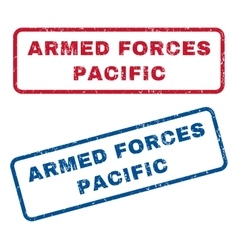 Armed forces pacific rubber stamps vector