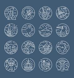 ecuador symbols icons vector image vector image