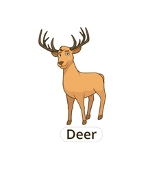 Forest animal deer cartoon for children vector image