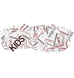 Great habits to improve your children s immunity vector