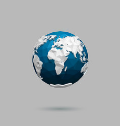 polygonal globe icon vector image
