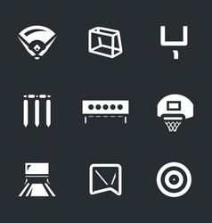 set of sport target icons vector image