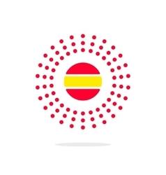 Sun energy logo concept solar power sign vector image