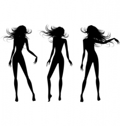 vector people silhouettes set vector image