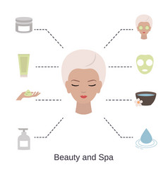 beauty and spa salon infographics beauty and spa vector image