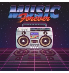 Music Forever Poster vector image
