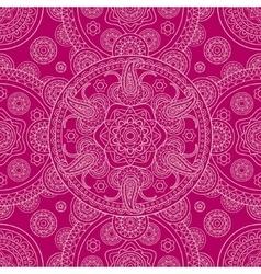 Pink ethnic ornate boho doodle seamless pattern vector image vector image