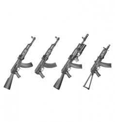 russian gun vector image