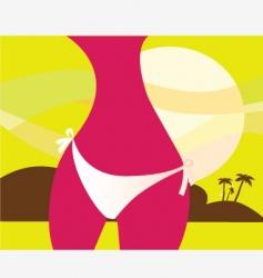 woman in bikini ii vector image