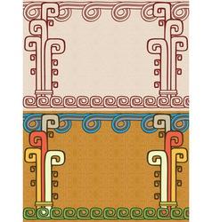 Aztec background two variants vector image vector image