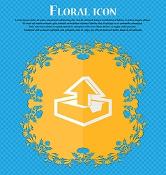Upload Floral flat design on a blue abstract vector image