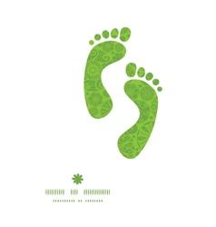 Abstract green and white circles footprints vector