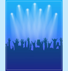dance party poster template concert dj party or vector image vector image