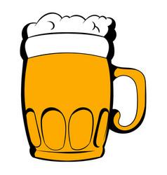 mug of beer icon cartoon vector image vector image