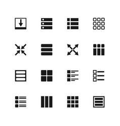 Ui menu and user interface navigation icons vector