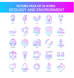 25 blue and pink futuro ecology and enviroment vector